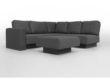 CHOICE 16 Modulsofa-System, max 237cm x 215 Dunkelgrau, schöner Webstoff, als Schlafsofa, 2er Sofa, Recamiere, Erweiterbar, Schlafsofa, Day-Bed, Ausgezeichnet mit dem German Design Award