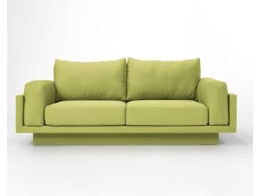 3-Sitzer-Sofa Schlafsofa Verwandlungssofa CLOUD-B grasGrün Verlourstoff / Mikrofaser, sehr pflegeleicht, 214cm breit