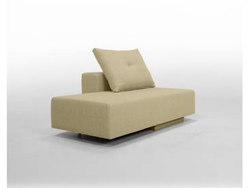 Modulsofa BonBon2 Mini Sofa / Bett mit Kissen / cappuccino, beige Mikrofaser, Schlafsofa 202x80cm oder Mini-Sofa 173x80cm, 143x80cm, Day-Bed, Recamiere Chaiselongues