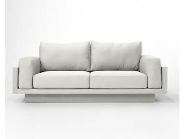3-Sitzer-Sofa Schlafsofa Verwandlungssofa CLOUD-B weiss samtig Verlourstoff / Mikrofaser, sehr pflegeleicht, 214cm breit