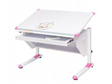 Kinderschreibtisch VARIANT mit Schublade weiß verstellbar
