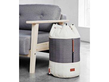 Wäschesack ROADIE Weiß / Grau auch als Rucksack verwendbar, von Karup