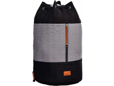 Wäschesack ROADIE Black / Grey auch als Rucksack verwendbar, von Karup