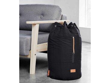 Design Wäschesack ROADIE Black auch als Rucksack verwendbar, von Karup