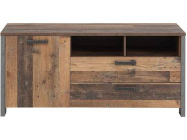 Optik Schuhschrank Kommode Clif 1-TRG Old Wood Vintage von Forte