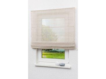 LYSEL Outlet Raffrollo beige, transparent mit Schnurzug (B x H) 100cm * 170cm