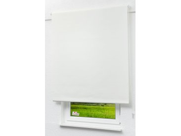 Seitenzugrollo Lysel Outlet - Verdunkelungsrollo Reinweiß, (B x H) 82.50cm x 175cm in weiß/reinweiß