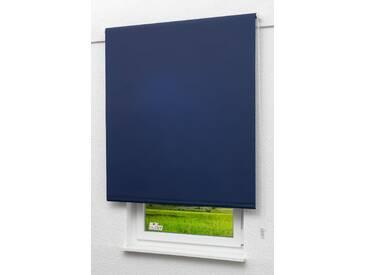 Seitenzugrollo Lysel Outlet - Basisrollo Tageslicht Dunkelblau, (B x H) 102.50cm x 190cm in blau/dunkelblau
