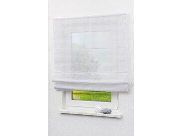 LYSEL Outlet Raffrollo weiß, transparent mit Schnurzug (B x H) 120cm * 170cm