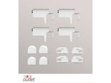 Zubehör SET Klemmträger für Plissee, Jalousien und Rollos aus Kunststoff/ Metall - in weiß