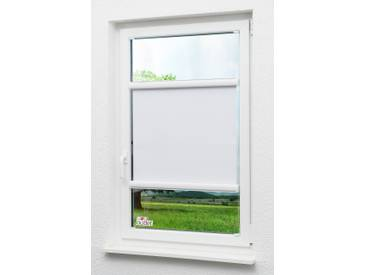 Lysel Outlet Glasleistenrollo verspannt abdunkelnd, (B x H) 45cm x 175cm in weiß/reinweiß
