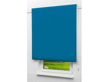 Seitenzugrollo Lysel Outlet - Verdunkelungsrollo Capriblau, (B x H) 122.50cm x 190cm in blau/capriblau