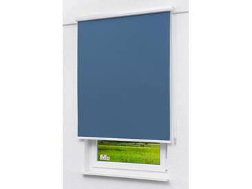 Seitenzugrollo Lysel Outlet - Qualitätskassettenrollo Abdunkelung jeansblau, (B x H) 100cm x 175cm in blau/jeansblau