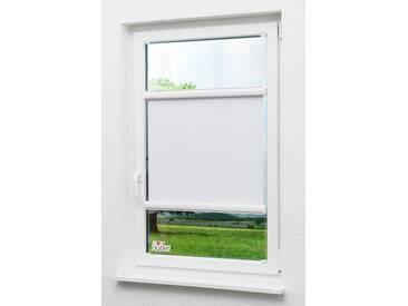 Lysel Outlet Glasleistenrollo verspannt abdunkelnd, (B x H) 115cm x 175cm in weiß/reinweiß