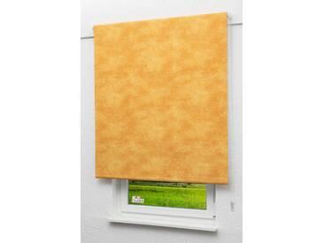 Seitenzugrollo Lysel Outlet - Verdunkelungsrollo Gelborange, (B x H) 82.50cm x 190cm in orange/gelborange