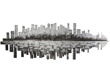 Bild Stadt am Fluss, 40x120 cm