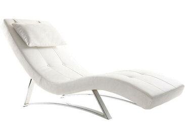 Design-Liegestuhl Weiß MONACO