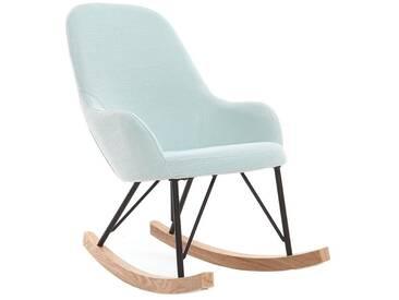 Relax-Sessel - Baby-Schaukelstuhl Stoff Minzgrün Füße Metall und Esche JHENE