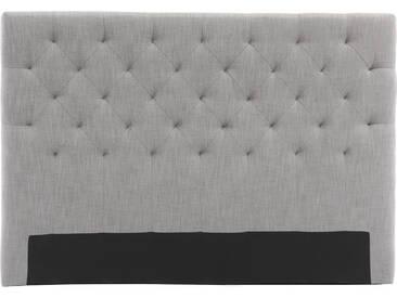 Bettkopfteil, hellgrauer Stoff, 160 cm ENGUERRAND