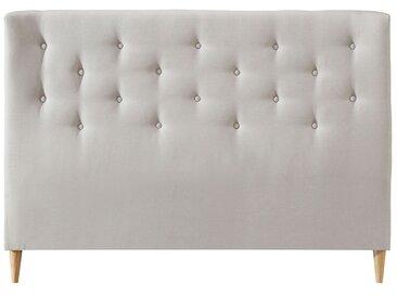 Bettkopfteil 160 gepolstert aus beigem Stoff EROS
