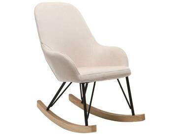 Relax-Sessel - Baby-Schaukelstuhl Stoff naturfarben Füße Metall und Esche JHENE