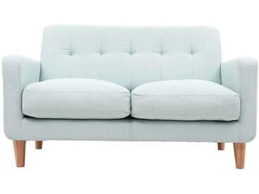 Design-Sofa skandinavisch lagunenblauer Stoff 2-Sitzer LUNA