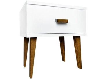 Moderner Holz-Nachttisch MFD 338 mit Beinen in Farbe der Eiche