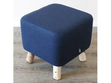 Design Birken Filz Fuß Hocker Loden Bank Stuhl Blau Birke Sitz