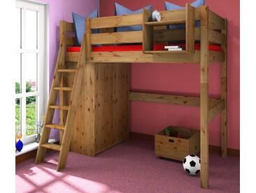 Hochbett Holz Massiv : Schmales sofa elegant hochbett mit einzigartig wohnideen