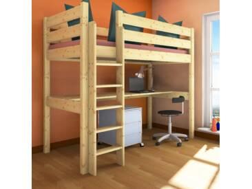 Etagenbett Erwachsene 100x200 : Erst holz etagenbett für erwachsene kiefer weiß teilbar