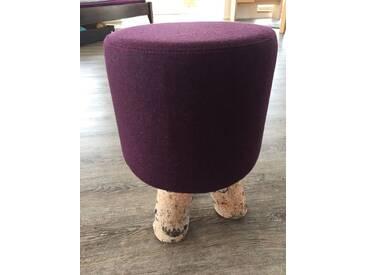 Design Birken Filz Fuß Hocker Loden Bank Stuhl Lila Birke Sitz