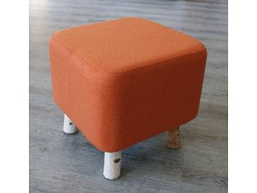 Design Birken Filz Fuß Hocker Loden Bank Stuhl Orange Birke Sitz