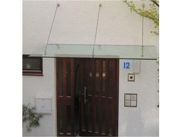 Echtglasvordach Edelstahlhalter rund 190 x 70 cm Haustürvordach