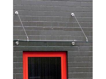 Echtglasvordach Edelstahlhalter rund 140 x 80 cm Haustürvordach