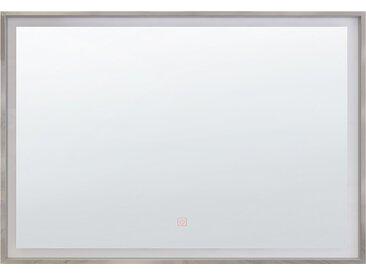 Badspiegel mit LED-Beleuchtung rechteckig 70 x 90 cm ARGENS