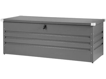 Auflagenbox Stahl grau 165 x 70 cm CEBROSA
