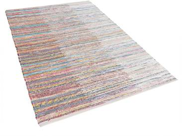 Teppich bunt 140 x 200 cm Kurzflor MERSIN
