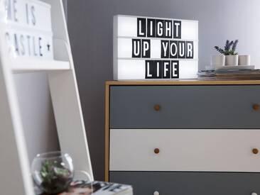 Lichtbox weiss 60 Schriftzeichen ZEYA