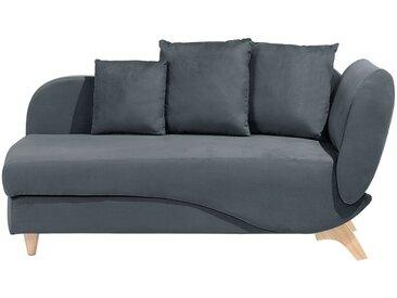 Chaiselongue dunkelgrau mit Bettkasten rechtsseitig MERI
