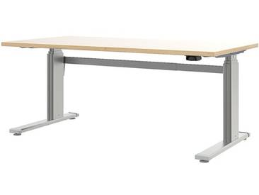Schreibtisch »Easy Up« 120 cm braun, Wellemöbel, 120x71x80 cm