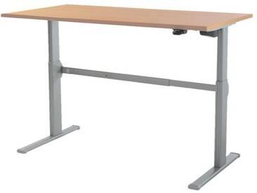 Schreibtisch »Up & Down 2« 140 cm und elektrisch höhenverstellbar bis 115 cm Braun, Wellemöbel, 140x71x80 cm