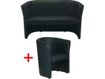 Couch-Set Schwarz, Nowy Styl, 70 cm