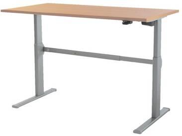 Schreibtisch »Up & Down 2« 120 cm und elektrisch höhenverstellbar bis 115 cm Braun, Wellemöbel, 120x71x80 cm