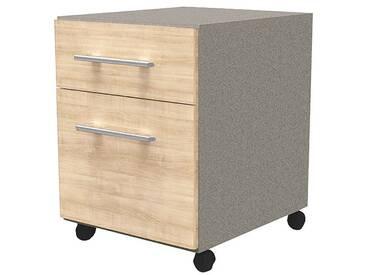 Büro Container »Perfect II« mit Hängeregistratur braun, Wellemöbel, 42.8x55.3x49.9 cm