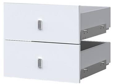Schubkastenset »Hyper II« für schmale Regale Weiß, Wellemöbel, 36.2x32.1x34 cm