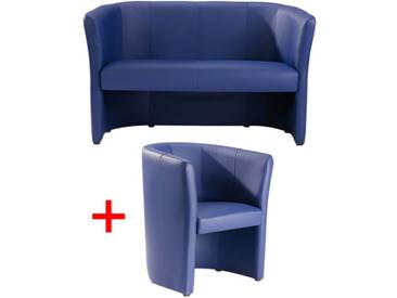 Couch-Set Blau, Nowy Styl, 70 cm