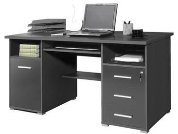 Büro Schreibtisch Grau, Germania-Werke, 75x70 cm