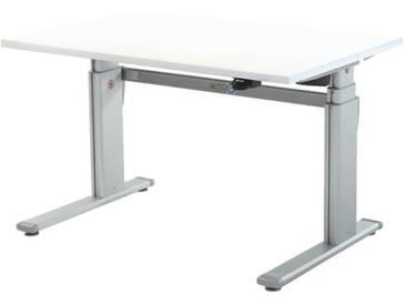 Schreibtisch »Up & Down 2« 120 cm und elektrisch höhenverstellbar bis 131 cm Weiß, Wellemöbel, 120x66x80 cm