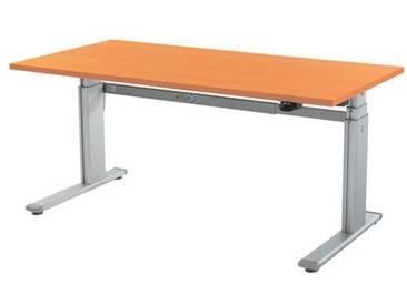 Schreibtisch »Up & Down 2« 160 cm und elektrisch höhenverstellbar bis 131 cm Braun, Wellemöbel, 160x69x80 cm