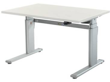 Schreibtisch »Up & Down 2« 120 cm und elektrisch höhenverstellbar bis 131 cm Grau, Wellemöbel, 120x66x80 cm